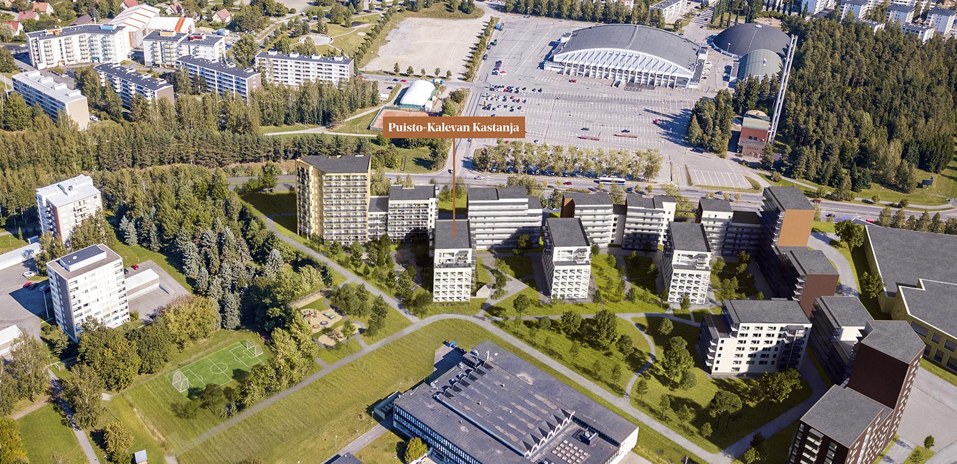Puisto-Kalevan Kastanja korttelikuvassa